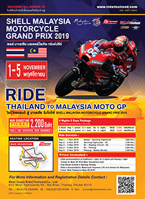 RIDE THAILAND TO MALAYSIAN MOTOGP 2019